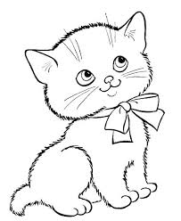 Coloring Pages Cat For Cats Kitten Book Three Little Kittens By Adults