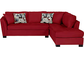 Cindy Crawford Microfiber Sectional Sofa by Cindy Crawford Home Calvin Heights Cardinal 2 Pc Sectional