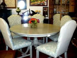 Round Dining Table W/Chairs – Cherished Possessions Trisha Yearwood Home Music City Hello Im Gone Ding Room Table Grey Griffin Cutback Upholstered Chair Along With Dark Wood Amazoncom Formal Luxurious 5pc Set Antique Silver Finish Tribeca Round And 2 Upholstered Side Chairs American Haddie Light Tone 4 Value Hooker Fniture Corsica Rectangle Pedestal Matisse With W Ladder Back By Paula Deen Vienna Merlot Kayla New