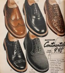 1950s Mens Dress Shoes
