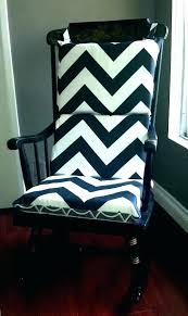 Black Chair Pads Rocking Cushions Nursery For