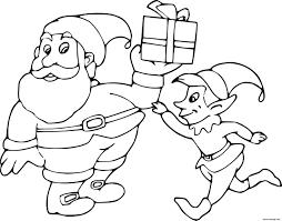 Coloriage Le Lutin Du Père Noël