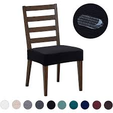 Dining Chair Covers(4 Pack) - Water Repellent,Easy To Install,High Stretch  - Dining Room Chair Seat Slipcover/Protector/Shield For Dog Cat Pets,Black Us 701 45 Offnew Spandex Stretch Ding Chair Cover Machine Washable Restaurant Wedding Banquet Folding Hotel Zebra Stripped Chairs Covergin Yisun Coverssolid Pu Leather Waterproof And Oilproof Protector Slipcover Black 4 Pack 100 Room Navy Blue And White Unique Bargains Removable Short Slipcovers Nanpiperhome Elegant Elastic Universal Home Decor Searching Perfect Check Search Faux By Surefit Classic Cabana Stripe Long Covers Set Of 2 Ltplaza Modern Seat 4pcsset Damask Operi