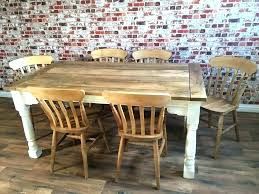Farmhouse Extendable Dining Table Extending Sets Up To Twelve Rustic
