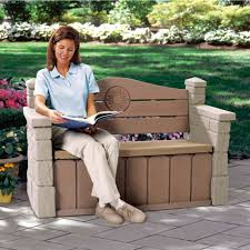 Rubbermaid Patio Storage Bench by Outdoor Storage Bench Outdoor Furniture Step2