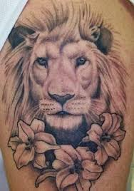Lion Among Flowers Is Listed Or Ranked 3 On The List Leo Tattoo Designs