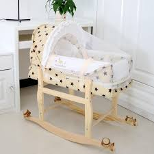 2018 High Quality Baby Cradle Basket With Mosquito Nets Two Way