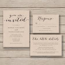 Wordings Rustic Wedding Invitation Blank Template Also Diy