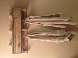 Steel Shelving Wall Diy Pallet Towel Rack Mounted Stainless Bathroom Industrial With Oak Shelf