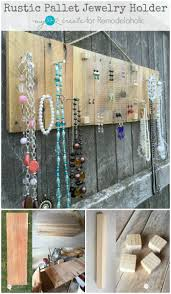 How To Easy DIY Rustic Pallet Jewelry Holder