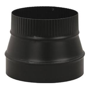 "Imperial BM0075 Stove Pipe Reducer - Black, 5""x6"""