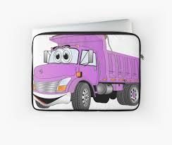 Purple Cartoon Dump Truck