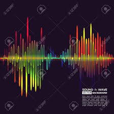 Vector Illustration Of Equalizer Background Music Poster Sound Waves And Noise Colorful Design