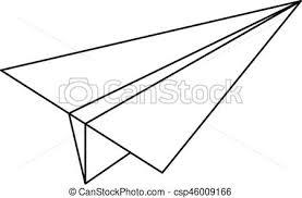 Paper plane icon outline style Paper plane icon outline clip