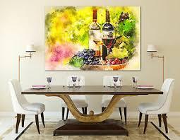 details zu leinwand bild wein bild modern abstrakt trauben wandbild lounge natur kunstdruck