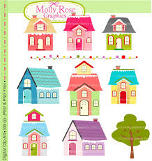 SALE House Digital Clip Art Personal And Small
