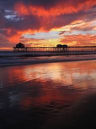 Sunset In Huntington Beach California