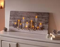 led bild kerzenschein licht winter kerze wanddeko led beleuchtung holzrahmen
