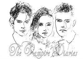 Vampire Diaries Coloring Pages Kyrsten Vogts Vampire Diaries