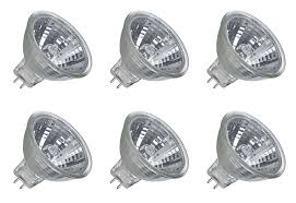 6 pack dc 24v 20w halogen light bulb mr11 spot light 12vmonster