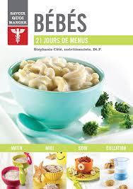 livre cuisine bébé savoir quoi manger bébés groupe modus