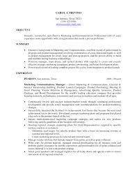 Resume Objectives For Management