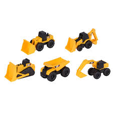 Toy Caterpillar Plastic Mini Construction Machines (Pack Of 5 ... Cat Big Rev Up Machine Dump Truck Toy At Mighty Ape Nz Tough Tracks Cstruction Crew Sand Set Amazoncom State Caterpillar Takeapart Trucks Express Train With Machines Toys 36 Piece Kids Shaped Floor Puzzle Nr16n Reach Yellow Norscot 55242 125 Scale Luxurious Cat Cement For Sale 15 Remote Control Toystate Job Site By Revup Vintage Ls Buy Mini Cars Of