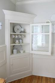 Dining Room Corner Hutch Door Open