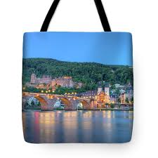 100 Water Bridge Germany Old Castle And Carltheodor Heidelberg Hdr Tote Bag