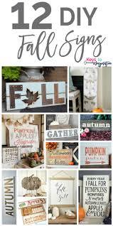 12 DIY Fall Signs