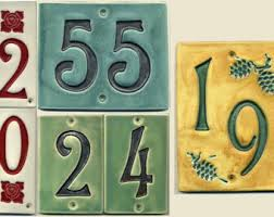 ceramic house number etsy