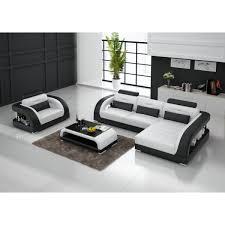 canapé design blanc canap angle noir et blanc simple canap duangle droit places