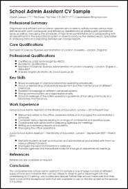 Curriculum Vitae Examples For Administrative Assistant With Physician Resume Template Templates