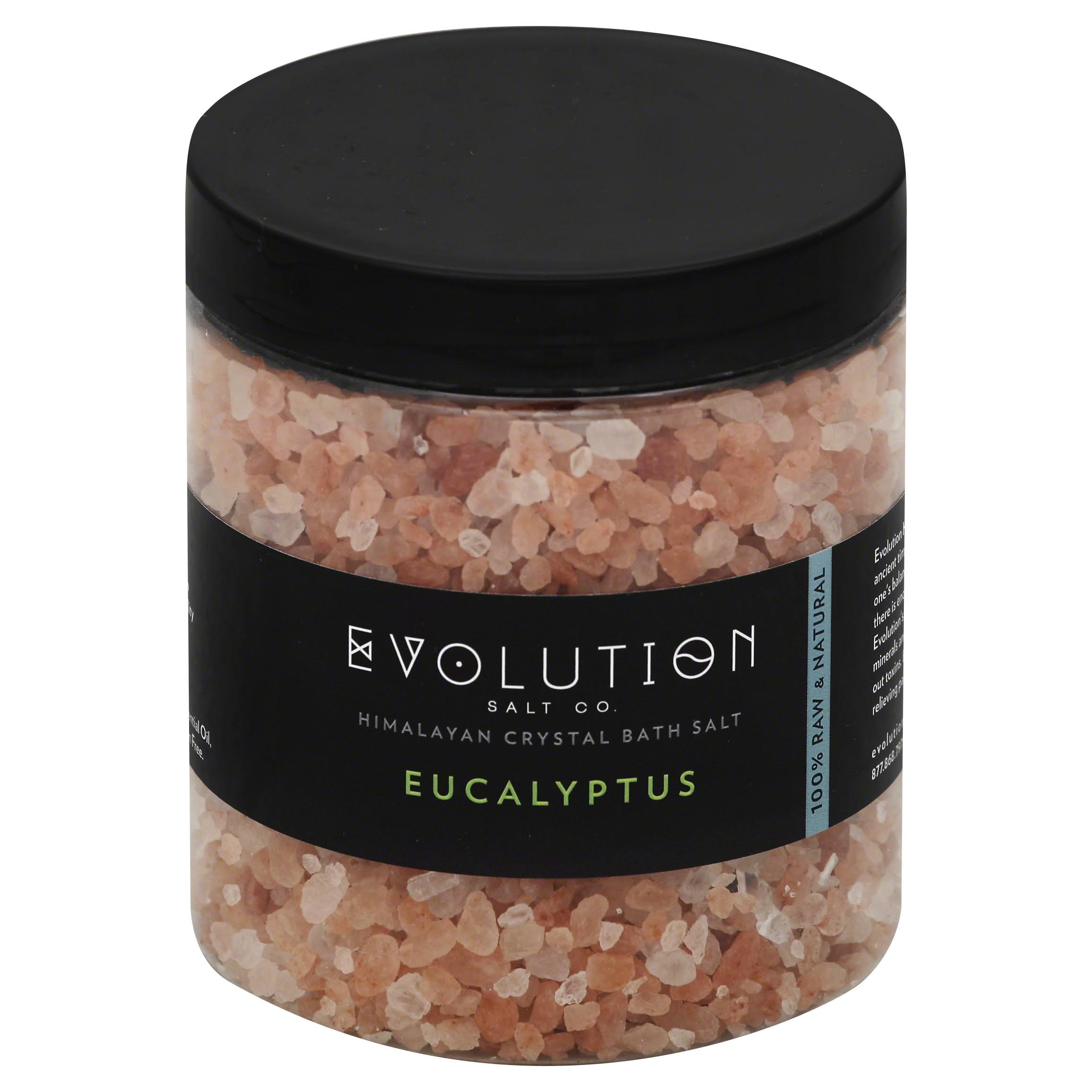 Evolution Himalayan Coarse Bath Salt - 26oz, Eucalyptus