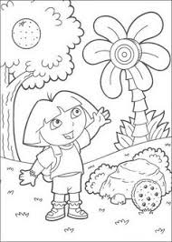 Dora The Explorer Coloring Pages For Kids 71