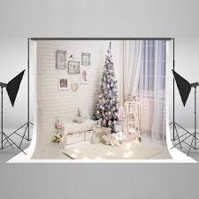 Christmas Tree 10ft by Kate Indoor White Christmas Photography Background 10ft With Tree