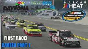 FIRST RACE! (Daytona - Trucks) | NASCAR Heat 2 Career Part 1 - YouTube Nascar Truck Series At Eldora Results Matt Crafton Wins Dirt Derby Romps To Domating Trucks Win In Atlanta Boston Herald Engine Spec Program On Schedule For In May Chris 2011 Camping World Truck Series Tv Schedule Maxpapiscom Am Racing Jj Yeley Readies Camping World Brett Moffitt Chicagoland Race Check Out Full 2017 Xfinity Schedule Cochranton Product Designs Paint Scheme Honor Vegas Shooting Chase Elliott Edges Sohnny Sauter Martinsville Trucks The 2018 Watkins Glen Live Scoring Updates