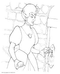 Stepmother To Cinderella Coloring Pages Disney Villain