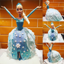 Little Pink Girl Barbie Doll Cake Elsa
