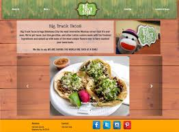 100 Big Truck Taco Menu Stephanie Thomas BTT Web Redesign Project