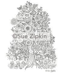 Sue Zipkin Printable Tree Of Life Coloring Page