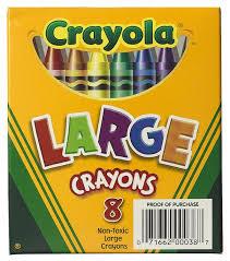 Crayola Bathtub Crayons 18 Vibrant Colors by Amazon Com Crayola 8ct Large Crayons Lift Lid Box Toys U0026 Games