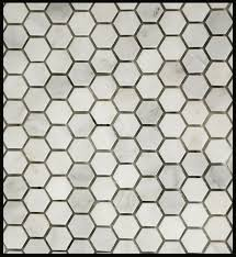 Usa Tile And Marble by White Marble Pol Hexagon 1x1 Mo Mosaics Materials