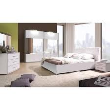 chambre à coucher complète verona blanche laquée achat vente