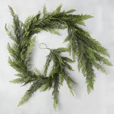faux cedar garland garlands holidays and christmas front doors