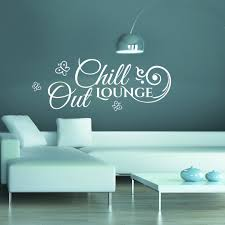 stickers wandtattoo chill out lounge mit blumen ranke und