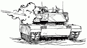 Army Coloring Pages Tank Shooting