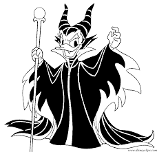 Daisy Duck As Maleficent Coloring Sheet
