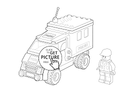 Lego Police Car Coloring Page For Kids Printable Free
