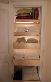 Roll Out Shelves for Linen Closet